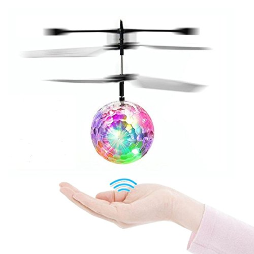 Flying Toys, TCY RC Flying Ball, Infrared Induction Helicopter Ball with Colorful Shinning LED Lights for Kids, Best RC Toy Gifts for Boys and Girls