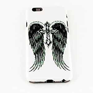 Fashion Classic Black Wings and Cross Pattern TPU Soft Cover for iPhone 6