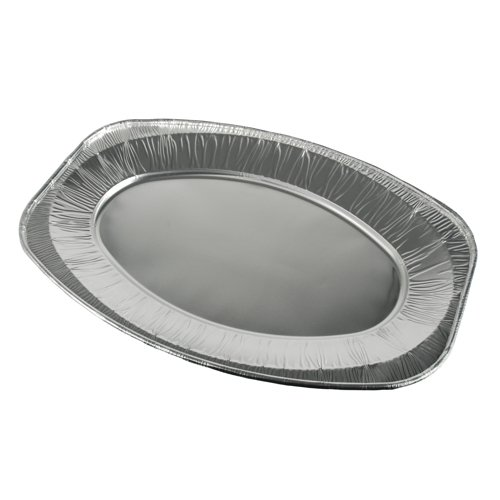 10 Servierplatten, Alu oval 44,5 cm x 29,5 cm