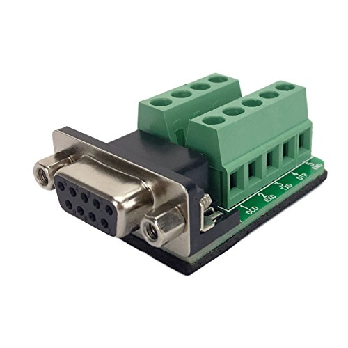 Twinkle Bay DB9 Connector to Wiring Terminal RS232 Serial Port Breakout Board Solder-Free (Female Adapter) (Tester 232 Rs)