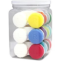 Optic Shop Tight-Top Contact Lens Case, Assorted Color Value Pack, 12 Count