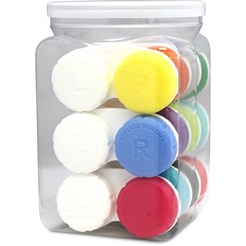 Optic Shop Tight-Top Contact Lens Case, Assorted Color Value Pack, 12 (Contact Lens For Sale)