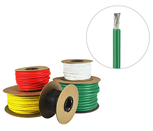 6 AWG Marine Wire - Tinned Copper Primary/Battery Boat Cable - 100 Feet - Green - Made in the USA