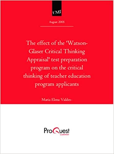 watson glaser critical thinking appraisal practice tests
