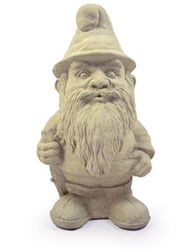 Modern Artisans Woodland Gnome Cast Stone Garden Statue, 12
