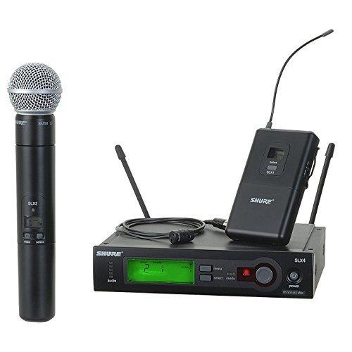 Shure SLX124/85/SM58 H5 | SLX1 SLX2/SM58 SLX4 WL185 Combo Wireless System by Shure