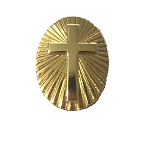 Sterling Gifts Gold Cross Pins on Sunburst Set of 2, Christian Pins ()