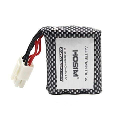Hosim RC Cars Replacement Battery, 800mAh EL-6P Li-ion Rechargeable Battery 9112 9123 9123 RC Truggy High Speed Truck Accessory Supplies (3rd Version)