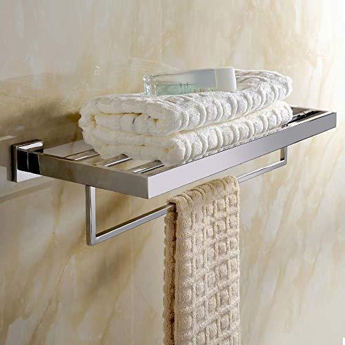 1Pcs Towel Shelf Wall Mounted-Towel Shelf for Bathroom-Bathroom Hardware Set Chrome-Bathroom Hardware Set Stainless Steel-Polished Chrome Bathroom Hardware Set-Bathroom Accessories and Decor Luxury