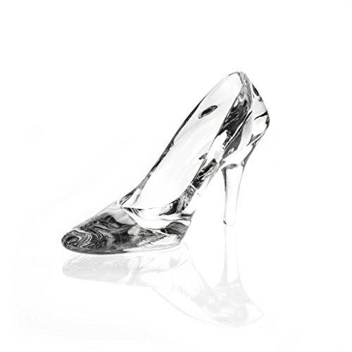 Crystal The Wonderland Cinderella Shoe Figurine Paperweight Collectible Glass Shoes