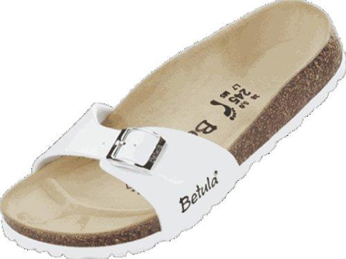 Betula - Zuecos de birko flor para mujer blanco - blanco