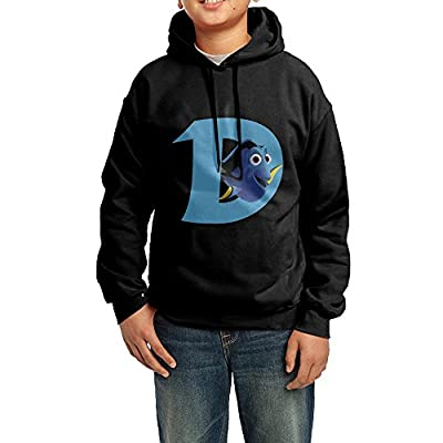 GGDD Teenager Unisex Finding Cute Fish Dory Character Tour Classic Hoodie Hooded Sweatshirt Leisure Style XL Black
