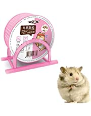 Hainice Hamster Comfort Wheel with Bracket Pet Treadmill Running Wheels Mute Hamster Exercise Wheel Silent Spinner Large and Easy Attach to Wire Cage for Small Animals (Blue & Pink)