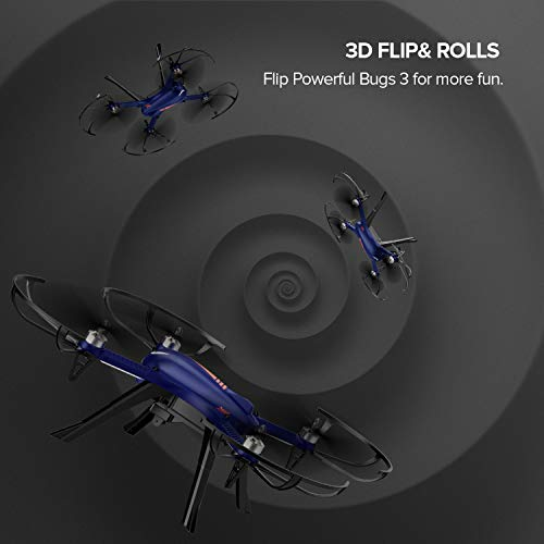 DROCON Blue Bugs 3 Brushless Motor Quadcopter Drone for Beginners and Experts - 18-20 Mins Long Working Time - 300 Meters Long Control Range -Support Gopro Xiaomi Xiaoyi 4K Camera by DROCON (Image #7)