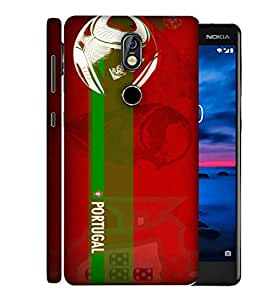 ColorKing Football Portugal 10 Red shell case cover for Nokia 7