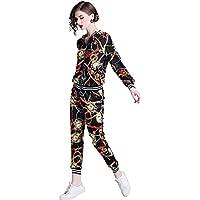 YGYG-X-AU Women's Floral Sports Set, Floral Clothes + Harem Pants, Clothing Set