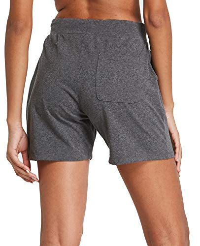 """FitsT4 5"""" Women's Cotton Indoor Lounge Walking Jersey Shorts Athletic Active Yoga Running Workout Pocketed Shorts"""