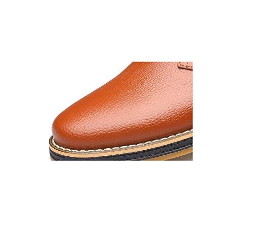 Hommes Occasionnels Chaussures Business Ruban Doux Rond Pointu Printemps Automne Eté Hiver Couleur Sports De Toile Brown hlN28