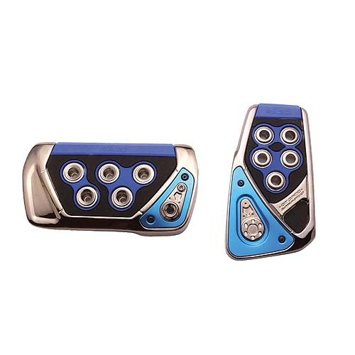 - Razo RP101BLA GT Spec Blue Small Automatic Transmission Pedal Set - 2 Piece