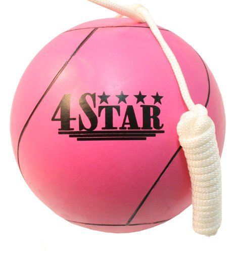 New PINK Color Tether Balls for Play Grounds & Picnics Included With Ropes by Lastworld