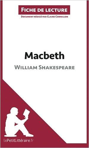 amazon com macbeth de william shakespeare fiche de lecture