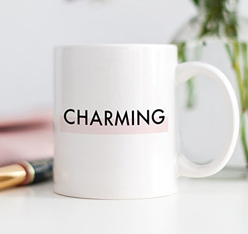 CHARMING Coffee Mug Gift Idea Pink Pretty Happy Sweet Lovely Modern Girl Love Birthday Christmas Present for Woman Boss Lady - 11oz Ceramic Tea Cup by Digibuddha - Online Cheap Mall