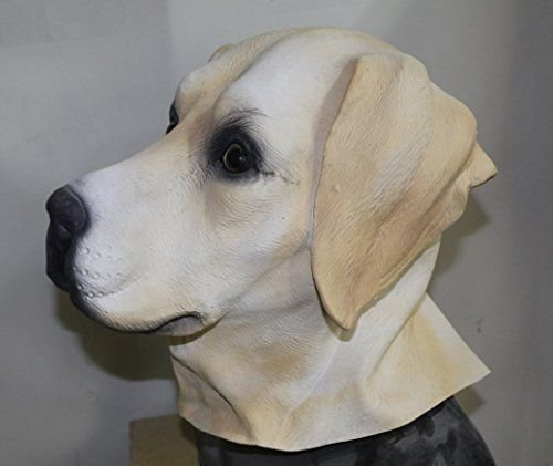Latex Animal Dog Head Mask, Party Costumes Fancy Dress up Carnival Mask Full Head Animal Popular Cosplay (Labrador (Halloween Costumes For Labradors)