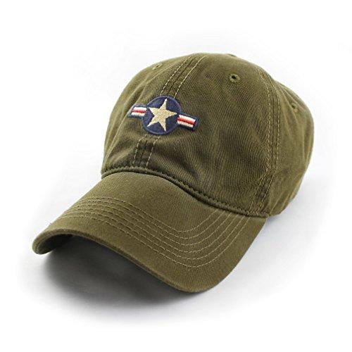 Force Air Cap Insignia (State Legacy Revival U.S. Air Force Insignia Ballcap, Olive)