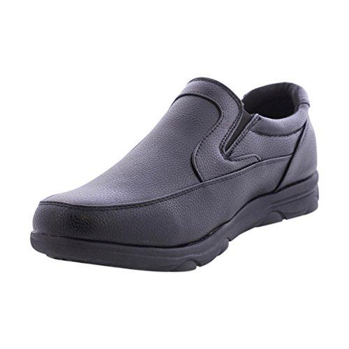 d0c25e03e5eb outlet Faranzi - Men s Non Slop Moc Toe Dress Shoe - Black ...