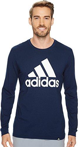 adidas Men's Badge Of Sport Classic Long-Sleeve Tee, Collegiate Navy/White, - Long Sleeve Adidas Shirt