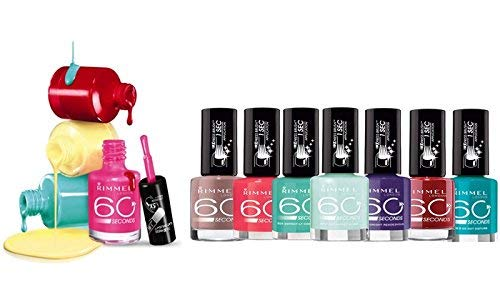 Rimmel Nail Polish 60 Second Assorted shades pack of 8