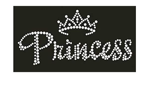 Princess with Tiara Rhinestone Transfer Hotfix Iron on Appliqué and Free Gift