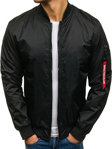 Bolf A Nero Quotidiano Stagione Zip Jacket Stile Da Giacca Uomo Chiusa Bomber Mezza – 4d4 ASrAw