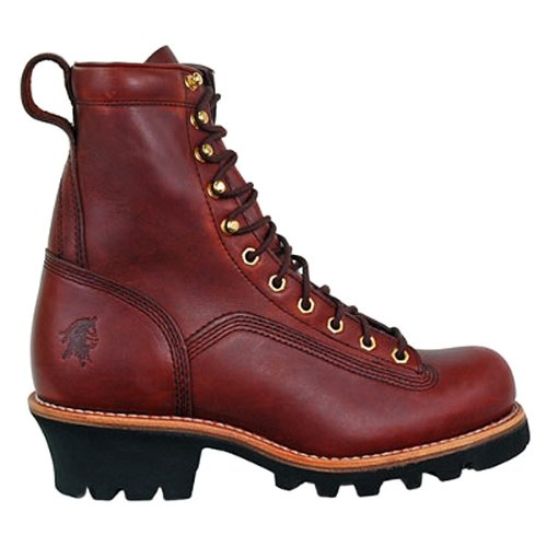Chippewa Men's 8 inch Oiled Loggers, REDWOOD, 6.5
