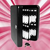 48 Keys Solid Steel Black Safe Tags Home Office Shop Storage Box Cabinet Case