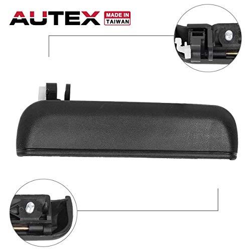 AUTEX 1pc Black Exterior Outer Front Right Passenger Side Door Handle Compatible with 1995 1996 1997 1998 1999 Toyota Tercel Door Handle 77786 6921016091 TO1311103 ()