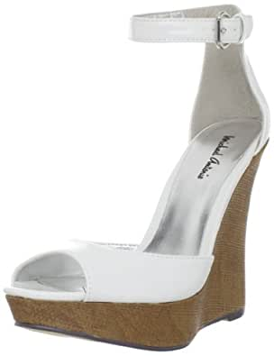 Michael Antonio Women's Genet Wedge Sandal,White Patent,10 M US