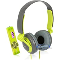 Sony Walkman NWZ-B173F 4GB Portable MP3 Player FM Radio + MDR-XB200 Headphones (Green NWZ-B173FHK)