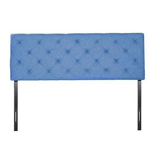 CO-Z King Size Upholstered Head Board Fabric Diamond Pattern 4 Adjustable Positions (King, Turquoise) -  HBFKINGTE