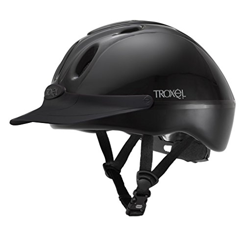 Troxel Spirit Black #1 Selling Schooling Riding Safety Helmet SEI Certification (Medium) (Spirit Troxel Schooling Helmet)