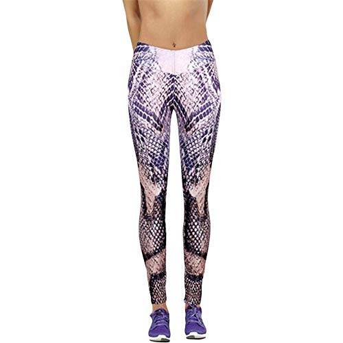 e428da507 SUNNY Store Women Sports Gym Yoga Mid Waist Snake Printing Pants Fitness  Elastic Leggings