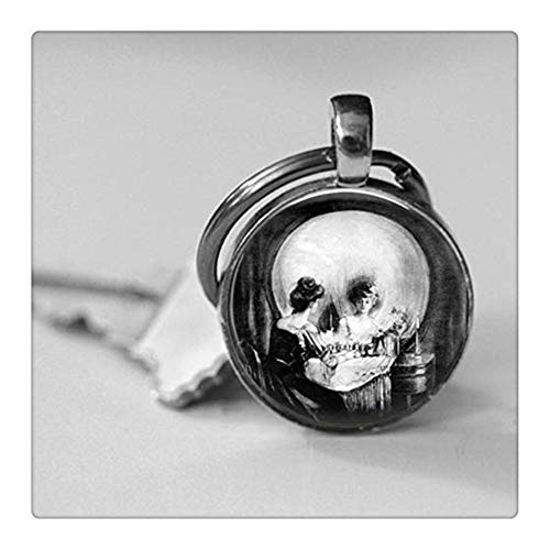- Custom pictures,All is Vanity Gilbert Art Photo Pendant Necklace or Key Chain Altered Art Jewelry Skull Optical Illusion,Key Chain or Necklace