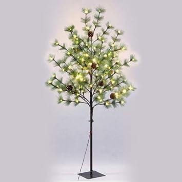 f26e097758c8b Árbol de Navidad con Luces led de Interior y Exterior Verde Moderno para  decoración navideña de 150 cm Christmas - LOLAhome  Amazon.es  Hogar