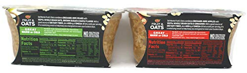 Variety Pack - Del Monte Fruit & Oats Cups (14 Oz) 2 Pk - Pear Maple, Apple Cinnamon