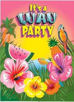 amazon com luau party invitations 8ct toys games