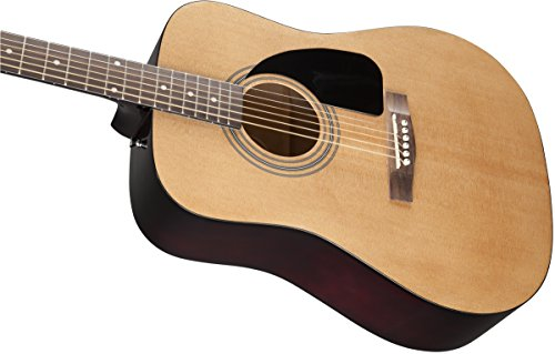 Fender FA-100 Dreadnought Acoustic Guitar with Gig Bag - Natural - Image 4
