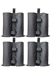 RIOGOO 4-Pack Pavilion Sandbags Industriële kwaliteit Heavy Duty dubbel gestikte zandzak, beengewichten voor pop-up luifel Tent gewogen voetenzak