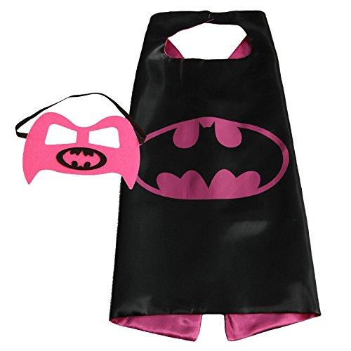 amazon com faj girls super hero cape and mask dress up costume