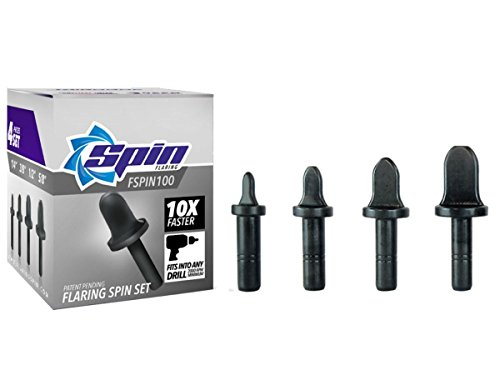 FSPIN100 Flaring Tool Drill Bit Set With 1/4'' 3/8'' 1/2'...