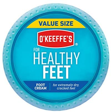 O'Keeffe's Healthy Feet Foot Cream, 6.4 Oz Jar, White (104042)